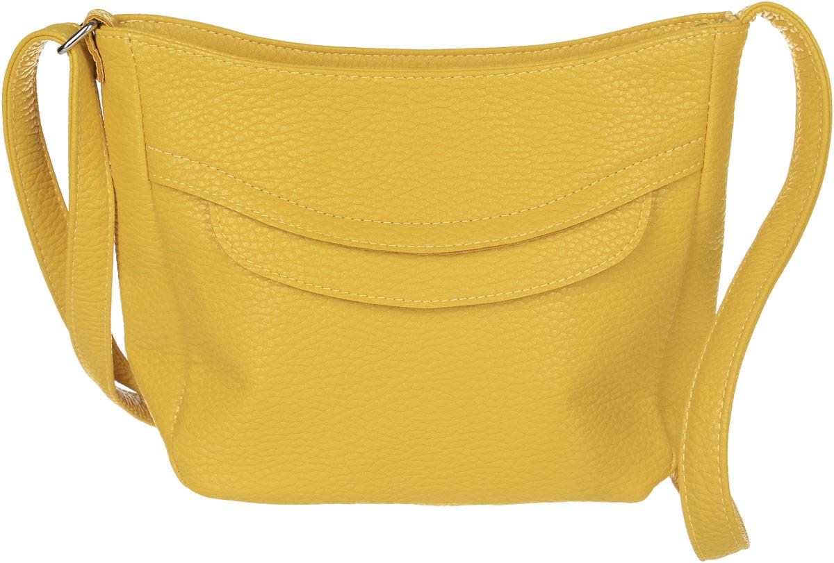 Сумка кросс-боди женская Медведково, цвет: желтый. 17с0272-к14