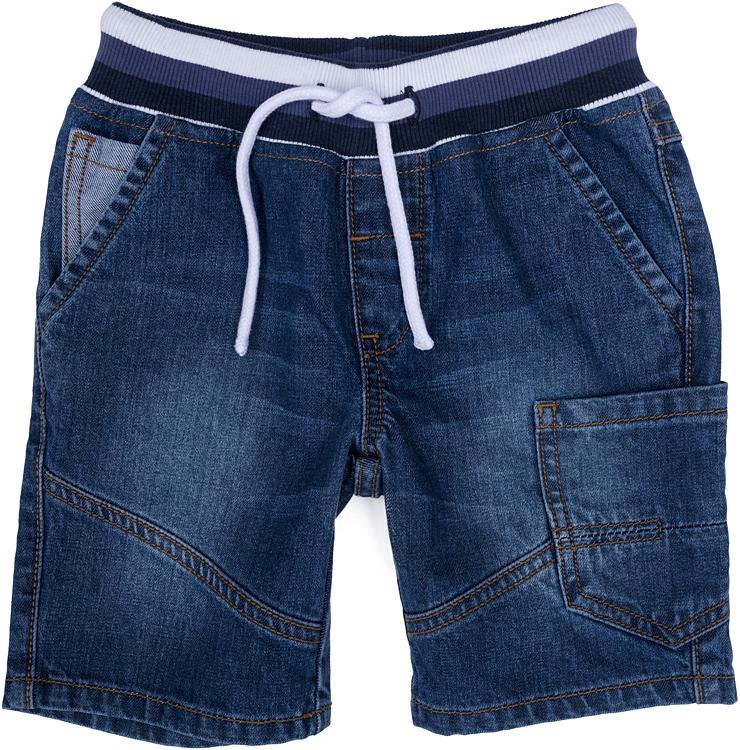 Шорты джинсовые для мальчика PlayToday, цвет: синий. 271007. Размер 104271007Шорты для мальчика PlayToday выполнены из качественного материала. Дополнена модель затягивающимся шнурком.
