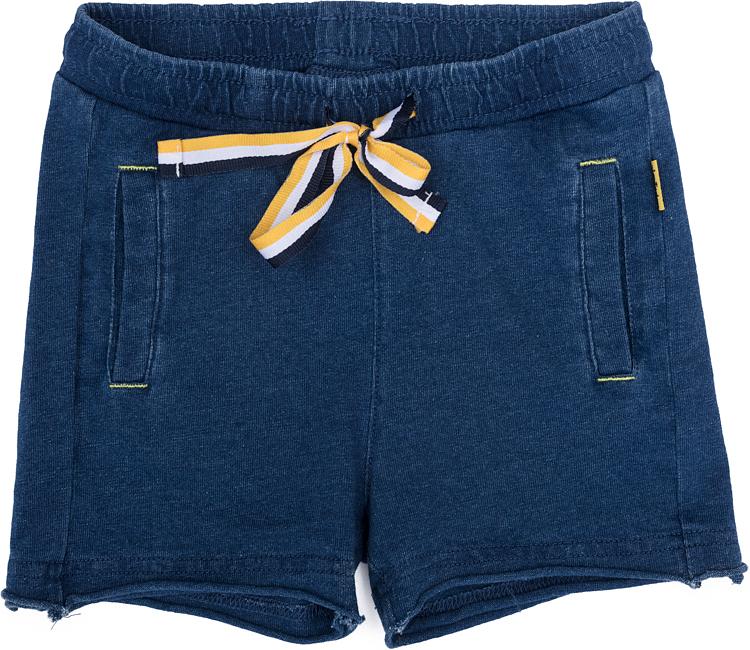 Шорты для мальчика PlayToday, цвет: синий, белый, желтый. 277009. Размер 86277009Шорты для мальчика PlayToday выполнены из качественного материала. Дополнена модель затягивающимся шнурком.