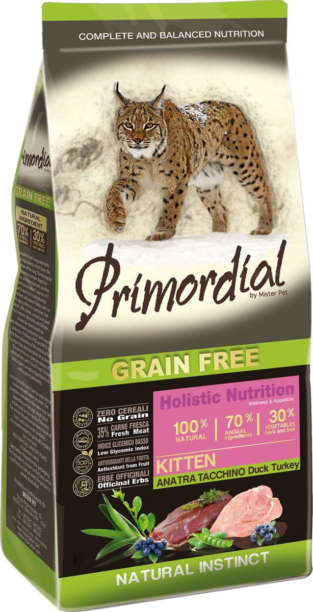 Корм сухой Primordial для котят, беззерновой, утка индейка, 2 кг пудовъ мука ржаная обдирная 1 кг