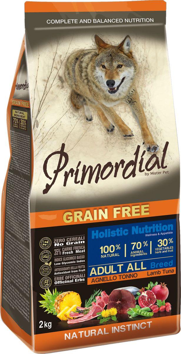 Корм сухой Primordial для собак, беззерновой, тунец и ягненок, 12 кг64785Полноценный беззерновой корм Primordial класса холистик изготовлен для взрослых собак. Специально отобранные виды мяса и рыбы поддерживают низкий гликемический индекс, гарантируют высокую аппетитность и перевариемость корма. Состав: свежий тунец (35%), дегидрированная ягнятина (18%), горошек, картофель, куриный жир (10%), дегидрированная свинина (8%), боб обыкновенный, льняное семя (2%), сушеная мякоть свеклы, пивные дрожжи, мука из морских водорослей (0,3%), фруктолигосахариды FOS (0,2%), дрожжевые продукты (MOS 0,2%), юкка Шидигера (0,03%), порошок корня одуванчика (Taraxacum officinale W.) (0,02%), дегидрированный гранат (Punica granatum) (0,02%), дегидрированный стебель ананаса (Ananas sativus L.) (0,02%), дегидрированные плоды шиповника (Rosa Canina L., R. Pendulina L.) (0,002%), глюкозамина, хондроитина сульфат, экстракт розмарина. Пищевые добавки на кг: 3a672a Витамин A 21000 UI, Витамин D3 1400 UI, 3a700 Витамин E 180 мг, E4 пентагидрат сульфата меди 59 мг, E1 карбонат железа 62 мг, E5 оксид марганца 77 мг, E6 моногидрат сульфата цинка 186 мг, E2 йодистый калий 4,85 мг, E8 селенит натрия 0,35 мг. Аналитические компоненты: влага 8%, сырой белок 30%, сырые масла и жиры 19%, сырая зола 8,3%, сырая клетчатка 2,4. Товар сертифицирован.