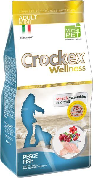 Корм сухой Crockex Wellness для собак мелких пород, с рыбой и рисом, 7,5 кг65212Этот полноценный рацион, дополненный функциональными ингредиентами, поддержит здоровье собаки. цветки гибискуса способствуют правильному функционированию пищеварительной системы, а гранат, шиповник и красные фрукты являются антиоксидантами и богаты натуральными укрепляющими веществами с антивозрастным эффектом, которые служат для борьбы со свободными радикалами. Расторопша - лекарственное растение, содержащее силимарин и силибинин, вещества, известные своими противовоспалительными свойствами и эффективно защищающие печень. Пребиотики FOS и MOS помогают модулировать кишечную флору, улучшая таким образом усвоение питательных веществ. Использование риса в качестве первого источника углеводов и свежей рыбы (15%) обеспечивает высокую перевариваемость и отличную аппетитность рациона.Состав: рыбная мука (26%), рис (20%), кукуруза, свежая рыба (15%), кукурузная мука, животный жир, очищенный от оболочки зеленый горошек, льняное семя (2%), высушенная мякоть свеклы, пивные дрожжи, обезвоженные морские водоросли (0,24%), хлорид натрия, экстракт дрожжей (MOS 0,16%), фруктоолигосахариды (FOS 0,1%), экстракт юкки (0,0265%), порошок из граната (Punica granatum) (0,02%), расторопша (Silybum marianum L.) (0,02%), порошок из цветков гибискуса (Hibiscus sabdariffa L.) (0,016%), обезвоженные плоды шиповника (Rosa Canina L., R. Pendulina L.) (0,002%), обезвоженная клубника (Fragaria x ananassa) (0,0006%), обезвоженная малина (Rubus ideaus L.) (0,0006%), обезвоженная ежевика (Rubus ulmifolius Schott.) (0,0006%).Добавки на 1 кг продукта - Пищевые добавки: Витамин A 17500 МЕ, Витамин D3 1200 МЕ, Витамин E 145 мг, E4 Сульфат меди пентагидрат47 мг, E1 Карбонат железа 76 мг, E5 Оксид марганца 92 мг, E6 Сульфат цинка моногидрат 192 мг, E2 Йодистый калий 4,6 мг, E8 Селенит натрия15,2 мг.Аналитический состав: влага 8%, сырой протеин26%, сырые масла и жиры 16%, сырая зола 6%,сырые волокна 2,1%, кальций 1,2%, фосфор 0,9