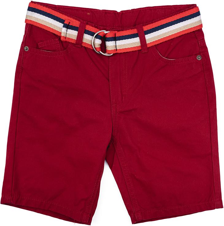 Шорты для мальчика Scool, цвет: темно-красный. 273004. Размер 158, 13 лет273004Эффектные шорты для мальчика Scool изготовлены из натурального хлопка. Свободный крой не сковывает движений ребенка. Модель со шлевками декорирована ярким ремнем контрастных цветов. Спереди расположены два втачных кармана и один накладной, сзади - два прорезных кармана на пуговицах.