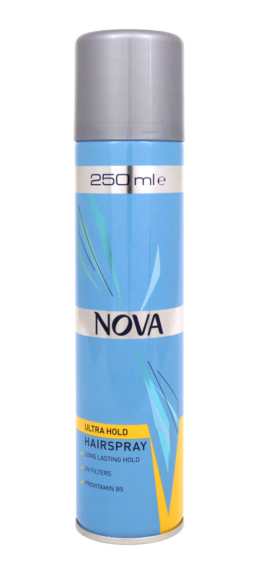 Лак для волос Nova сверхсильной фиксации 250 мл (желтый)5010159985337Современные компоненты,входящие в состав лака с провитомином B5,обеспечивают хорошую фиксацию и блеск без видимых следов утяжеления и склеивания волос.Лак фиксирует самые сложные формы и одновременно способствует восстановлению и укреплению поврежденной структуры волос.Питательные добавки придают волосам роскошный,шелковый блеск.