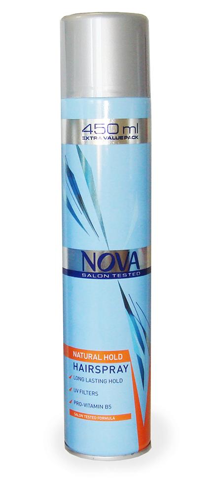 Лак для волос Nova супер фиксации 450 мл (оранжевый)5021156120683Современные компоненты,входящие в состав лака с провитомином B5,обеспечивают хорошую фиксацию и блеск без видимых следов утяжеления и склеивания волос.Лак фиксирует самые сложные формы и одновременно способствует восстановлению и укреплению поврежденной структуры волос.Питательные добавки придают волосам роскошный,шелковый блеск.
