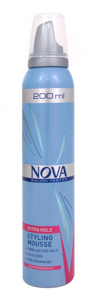 Мусс сильной фиксации Nova 200 мл (красный)5021156120263Мусс обеспечивает сохранение формы прически на длительное время. Новая формула с провитаминами B5 и питательными компонентами обеспечивает легкое расчесывание при укладке, а UV-фильтры защищают волосы от дополнительных повреждений.