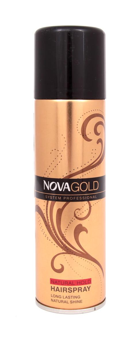 Золотистый лак для волос Nova GOLD с протеинами шёлка 200 мл (красный) Nova