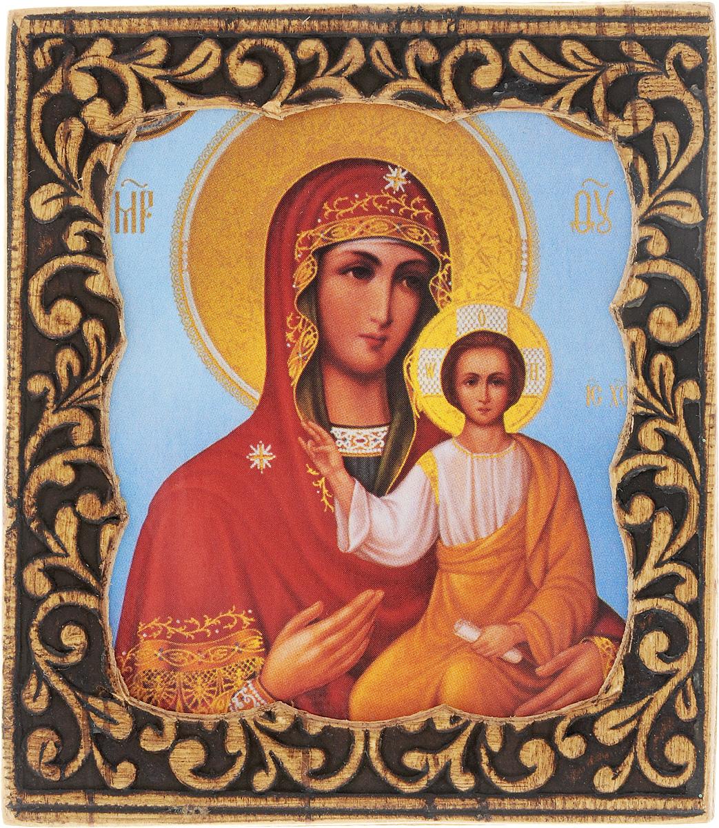 Икона Sima-land Смоленская Пресвятая Богородица, 6 х 6,5 см икона янтарная почаевская богородица