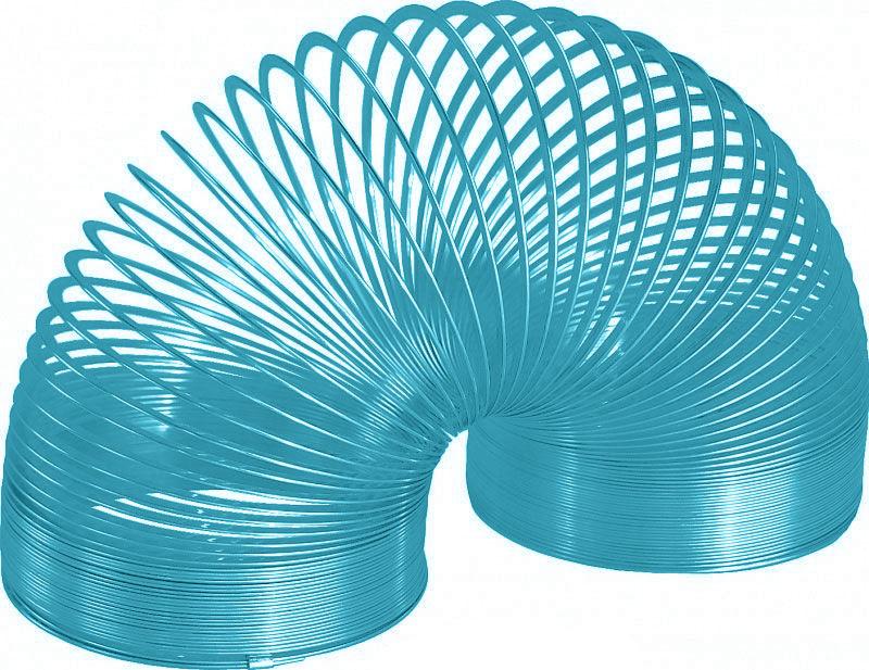 Игрушка-пружинка  Slinky , металлическая, цвет: бирюзовый - Развлекательные игрушки