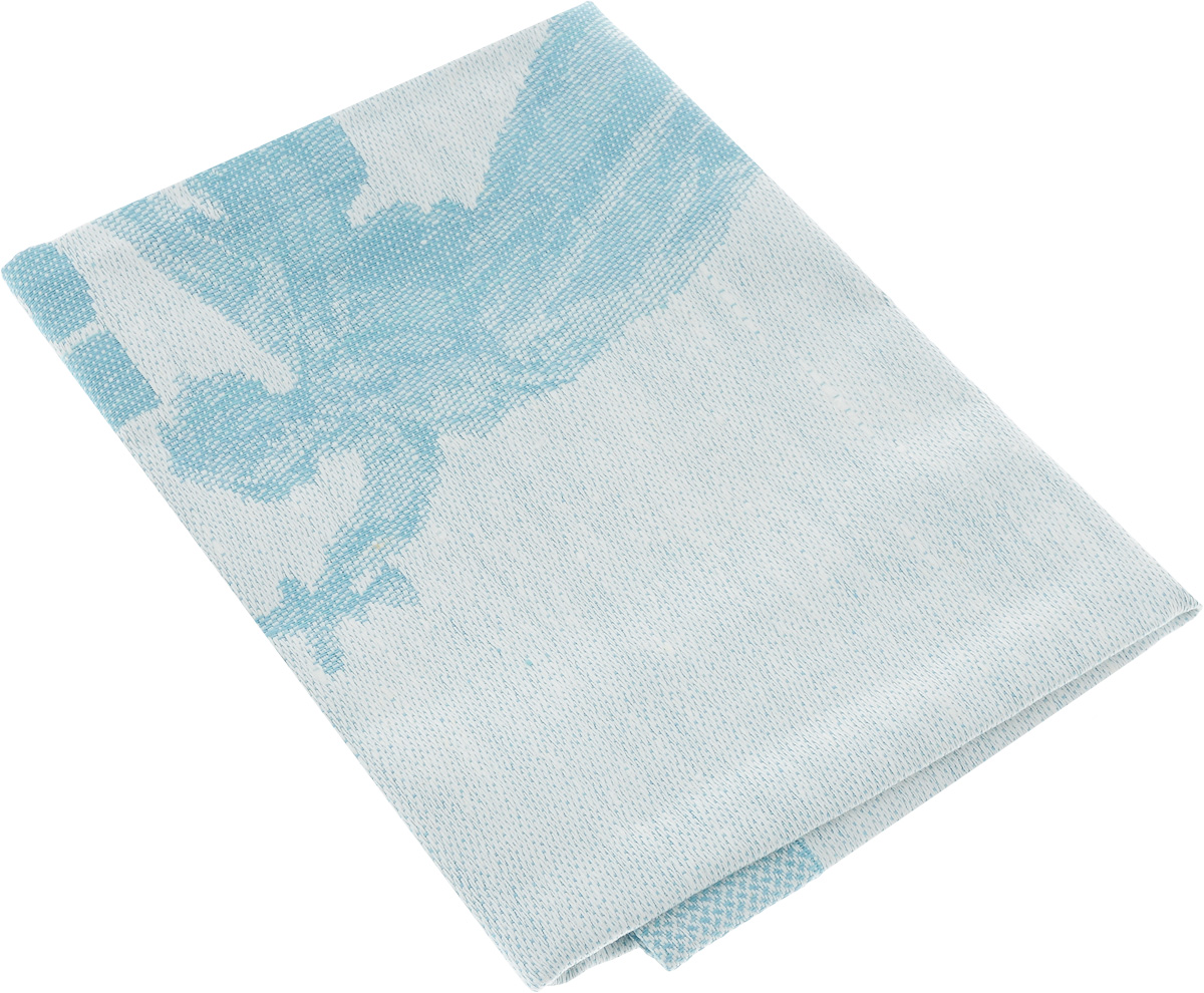 Салфетка жаккардовая Гаврилов-Ямский Лен, цвет: голубой, белый, 45 х 45 см пододеяльник гаврилов ямский лен цвет белый синий 175 х 220 см 2348