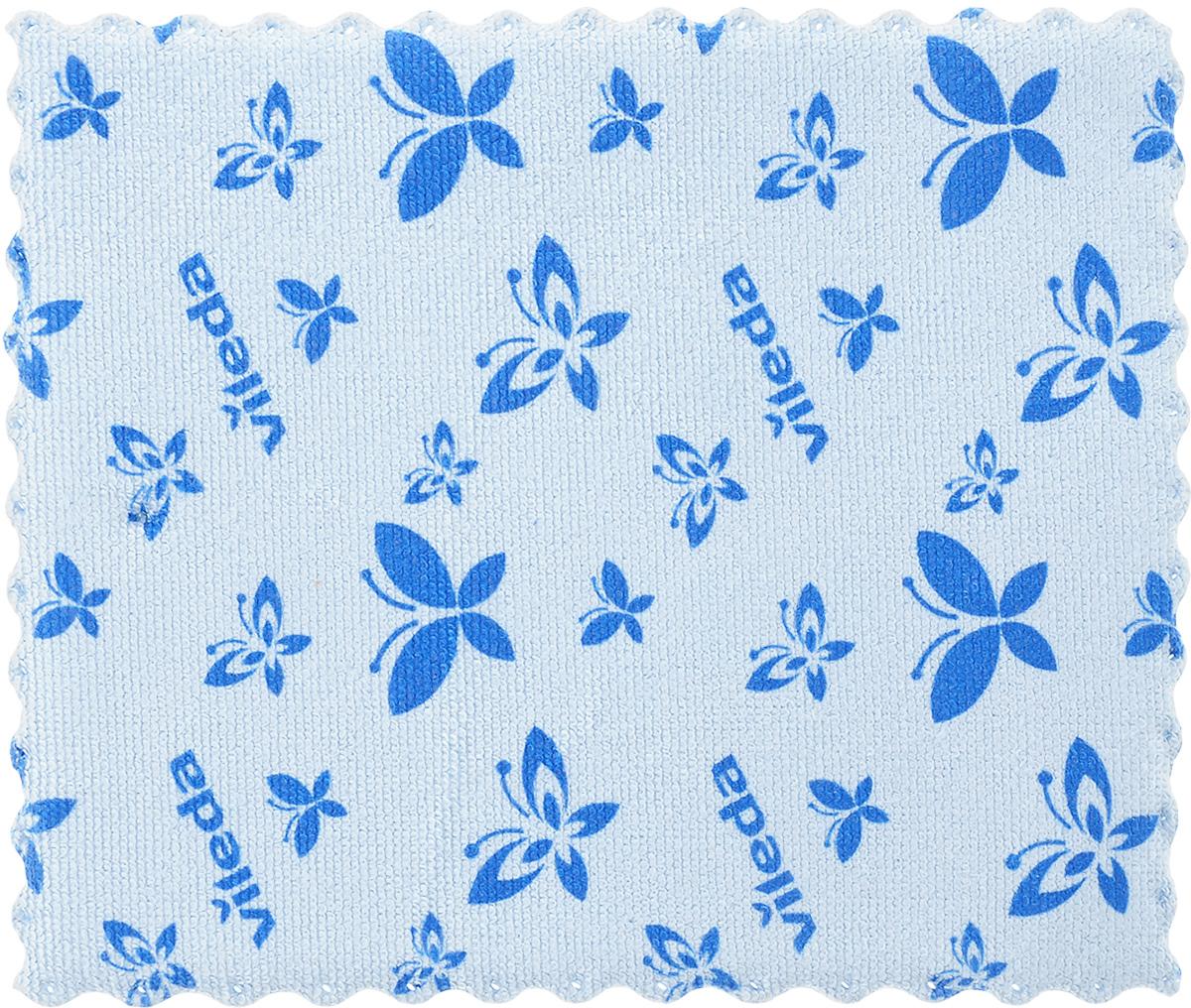 Салфетка универсальная Vileda, цвет: голубой, 17 х 20 см салфетка универсальная vileda микрофибра цвет розовый 32 х 32 см
