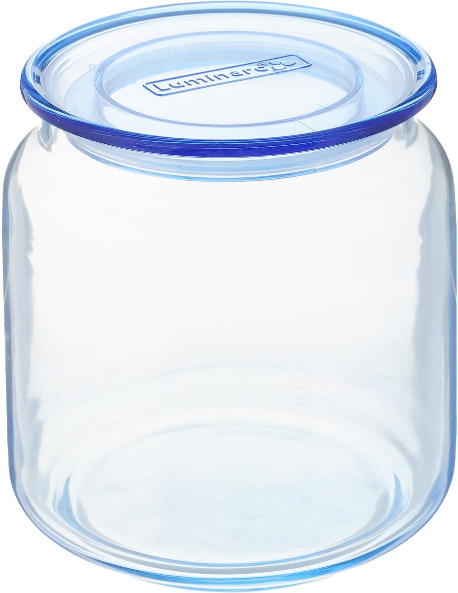 Банка для сыпучих продуктов Luminarc Rondo, с крышкой, цвет: голубой, 500 млJ7527Банка Luminarc Rondo, выполненная извысококачественного стекла, станет незаменимымпомощником на кухне. В ней будет удобно хранитьразнообразные сыпучие продукты, такие как кофе,сахар, соль или специи. Прозрачная банка позволит следить,что и в каком количестве находится внутри. Банка надежнозакрывается пластиковой крышкой, которая снабженасиликоновым уплотнителем для лучшей фиксации. Такая банка не только сэкономит место на вашей кухне, но иукрасит интерьер.Объем: 500 мл.Диаметр банки (по верхнему краю): 7,5 см.Высота банки (без учета крышки): 9,5 см.