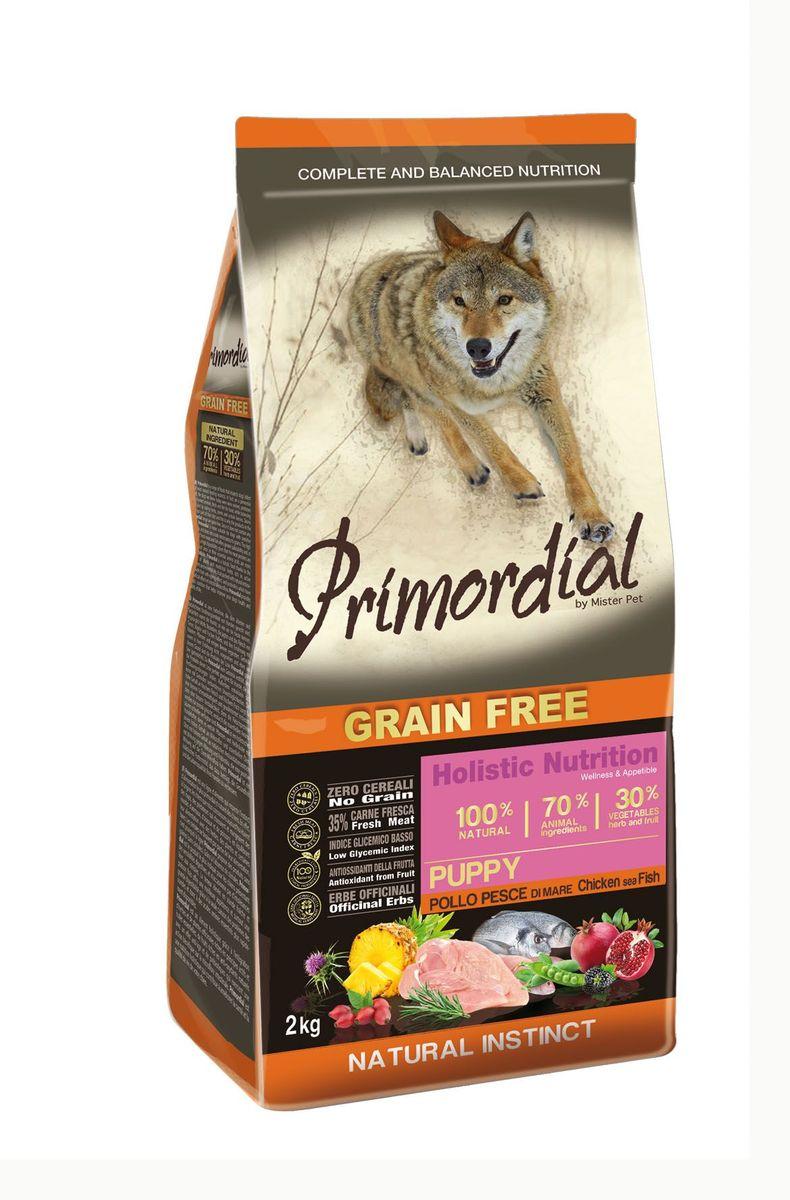 Корм сухой Primordial для щенков, беззерновой, курица и рыба, 2 кгMSP5002Полноценный беззерновой корм Primordial класса холистик изготовлен для взрослых собак. Специально отобранные виды мяса и рыбы поддерживают низкий гликемический индекс, гарантируют высокую аппетитность и перевариемость корма. Состав:свежая рыба (35%), дегидрированное куриное мясо (24%), горошек, картофель, куриный жир (11%), боб обыкновенный, льняное семя (2%), сушеная мякоть свеклы, пивные дрожжи, мука из морских водорослей (0,3%), сушеная мякоть цикория, фруктолигосахариды FOS (0,2%), дрожжевые продукты (MOS 0,2%), юкка Шидигера (0,03%), расторопша пятнистая (Silybum marianum L.) (0,02%), дегидрированный стебель ананаса (Ananas sativus L.) (0,02%), дегидрированный гранат (Punica granatum) (0,02%), дегидрированные плоды шиповника (Rosa Canina L., R. Pendulina L.) (0,002%), дегидрированная ежевика (Rubus ulmifolius Schott.) (0,0006%), глюкозамина (100 мг/кг), хондроитина сульфат (50 мг/кг), экстракт розмарина. Пищевые добавки на кг: 3a672a Витамин A 22500 UI, Витамин D3 1550 UI, 3a700 Витамин E 190 мг, E4 пентагидрат сульфата меди 67 мг, E1 карбонат железа 70 мг, E5 оксид марганца 88 мг, E6 моногидрат сульфата цинка 211 мг, E2 йодистый калий 5,04 мг, E8 селенит натрия 0,39 мг. Аналитические компоненты: Влага 8%, сырой белок 30%, сырые масла и жиры 19%, сырая зола 8%, сырая клетчатка 2,6%. Товар сертифицирован.