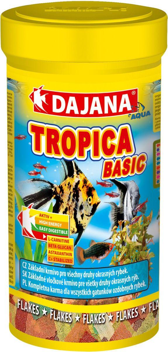 Корм для рыб Dajana Tropica Flakes, 250 млDP000B2Комплексный, высококачественный корм для рыбок Dajana Tropica состоит из 7 видов хлопьев на каждый день.Идеален для всех видов декоративных аквариумных рыбок.Новая формула корма Тропика содержит сбалансированное количество специально подобранного природного сырья, содержащего питательные вещества, натуральные витамины и минералы, для здоровья, яркого окраса и активного роста рыбок. Благодаря специальной технологии приготовления, корм Dajana Tropica не мутит воду в аквариуме.Состав: рыба и рыбные субпродукты, зерновые, растительные протеиновые концентраты, сухие дрожжи, ракообразные, водоросли спирулина, другие морские водоросли и масла богатые ОМЕГА-3 жирными кислотами.