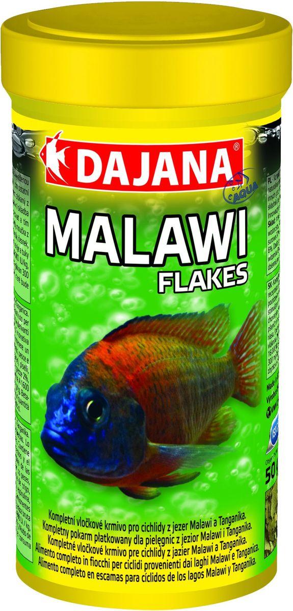 Корм для рыб Dajana Malawi Flakes, для цихлид озер Малави и Танганьика, 250 млDP015B0Полнорационный хлопьевидный корм для семейства Сichlid Malawi. Содержит питательно важные компоненты, полученные из насекомых и натуральный иммуностимулятор бета-глюкан. Содержит специально сбалансированную смесь из водорослей, спирулина, ламинария, хлорелла для поддержания жизненных сил и улучшения пищеварения.Состав: мука пшеничная, пивные дрожжи, спирулина, морские водоросли, шпинат, горох, хлорелла, чеснок, масло лосося; рыба и рыбные продукты, мука из насекомых.