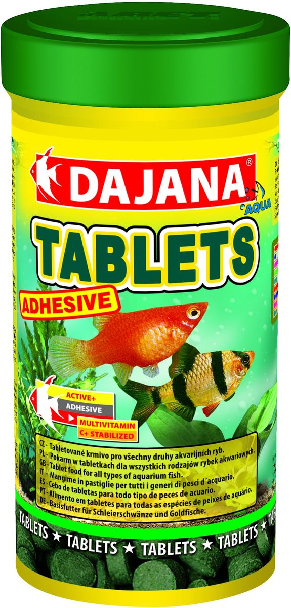 Корм для рыб Dajana Tablets Adhesive, 100 мл корм сухой tetramin pro crisps для всех видов тропических рыб в виде чипсов 100 мл