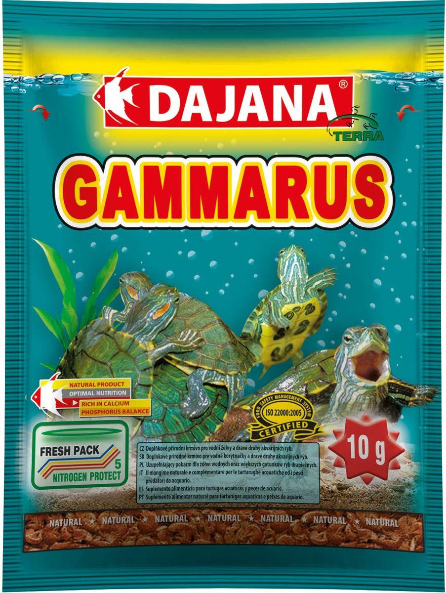 Корм для рыб и рептилий Dajana Gammarus, 80 млDP201SПриродный натуральный корм из чистого, сушеного гаммаруса с высокой питательной ценностью и большим содержанием каротина. Для всех видов аквариумных рыб, водяных черепах и террариумных животных. Изысканное лакомство с полным набором питательных элементов, витаминов и минералов.Отобран в экологически чистых районах Сибири, благодаря специальной технологии низкой температурной обработки, сохраняет высокое содержание белка и другие биологически активные полезные вещества. При регулярном кормлении Dajana Gammarus благотворно влияет на пищеварительную систему, обеспечивая долгую и здоровую жизнь черепах.Состав: гаммарус.