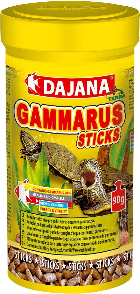 Корм для водных черепах Dajana Gammarus Sticks, 250 млDP153BПолноценный сбалансированный корм Dajana Gammarus Sticks разработан с учетомособенностей жизнедеятельности водных черепах. Высококачественный корм с в виде палочек содержит все необходимые для рептилийвитамины, микроэлементы и минеральные вещества. Корм Dajana Gammarus Sticks гарантирует правильное развитие рептилии, укрепляет панцирьи кости, развивает мускулатуру.Имеет отличные вкусовые качества и хорошо переваривается, поддерживая правильнуюработу пищеварительной системы.Состав: гаммарус, рыба и рыбные субпродукты, продукты из масел растений, растительныепротеиновые концентраты, сухие дрожжи, овощи, жиры.