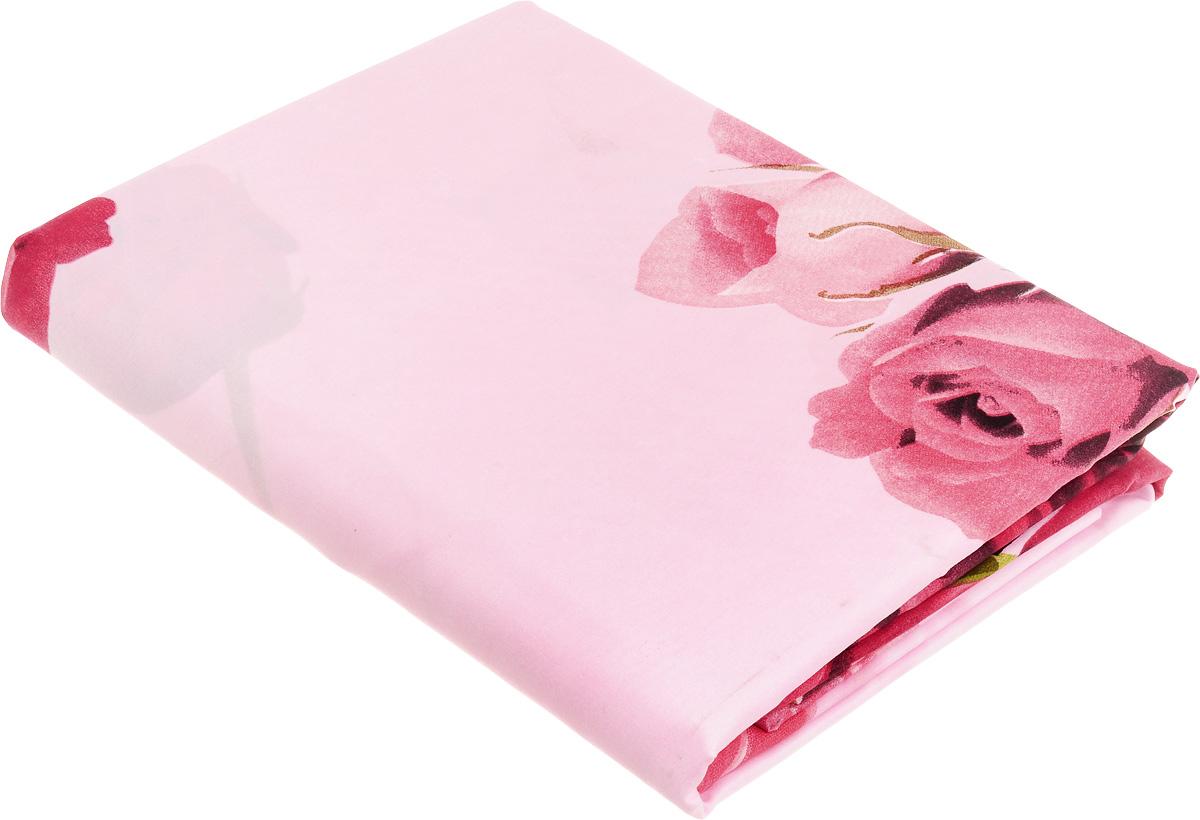 Комплект белья МарТекс Ида, евро, наволочки 50х70, 70х70 цвет: розовый