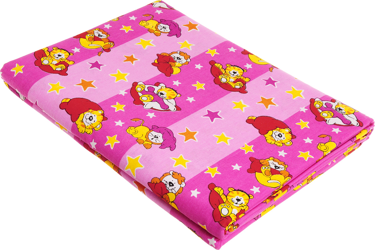 Комплект детского постельного белья МарТекс Спокойной ночи, 1,5-спальный, наволочка 70x70, цвет: розовый, фуксия01-1032-5Детский комплект постельного белья МарТекс Спокойной ночи состоит из наволочки, пододеяльника и простыни. Он изготовлен из натурального хлопка, дарящего ребенку непревзойденную мягкость. Натуральный материал не раздражает даже самую нежную и чувствительную кожу ребенка, обеспечивая ему наибольший комфорт.Приобретая комплект постельного белья МарТекс, вы можете быть уверенны в том, что покупка доставит вам и вашим близким удовольствие и подарит максимальный комфорт.