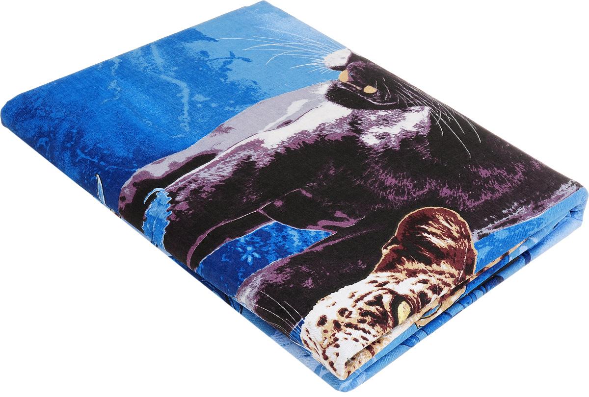 Комплект белья МарТекс Пантера, 1,5-спальный, наволочки 70х70, цвет: синий01-0956-1Комплект постельного белья МарТекс Пантера состоит из пододеяльника, простыни и двух наволочек и изготовлен из бязи. Постельное белье оформлено оригинальным ярким рисунком и имеет изысканный внешний вид. Бязь - вид ткани, произведенный из натурального хлопка. Бязевое белье выдерживает большое количество стирок. Благодаря натуральному хлопку, постельное белье приобретает способность пропускать воздух, давая возможность телу дышать. Приобретая комплект постельного белья МарТекс, вы можете быть уверенны в том, что покупка доставит вам и вашим близким удовольствие и подарит максимальный комфорт.