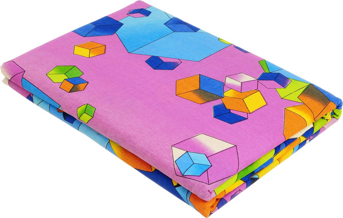 Комплект белья МарТекс Кубик-рубик, 1,5-спальный, наволочки 70х70, цвет: сиреневый, зеленый01-0581-1Комплект постельного белья МарТекс Кубик-рубик состоит из пододеяльника, простыни и двух наволочек и изготовлен из бязи. Постельное белье оформлено оригинальным ярким рисунком и имеет изысканный внешний вид. Бязь - вид ткани, произведенный из натурального хлопка. Бязевое белье выдерживает большое количество стирок. Благодаря натуральному хлопку, постельное белье приобретает способность пропускать воздух, давая возможность телу дышать. Приобретая комплект постельного белья МарТекс, вы можете быть уверенны в том, что покупка доставит вам и вашим близким удовольствие и подарит максимальный комфорт.