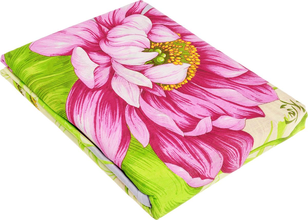 Комплект белья МарТекс Юлиана, евро, наволочки 70х70, цвет: розовый