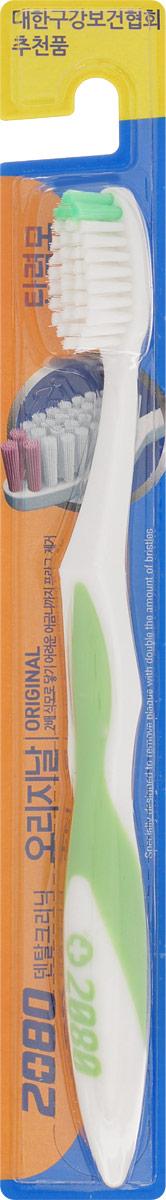 DC 2080 Зубная щетка Оригинал, средняя жесткость, цвет: салатовый