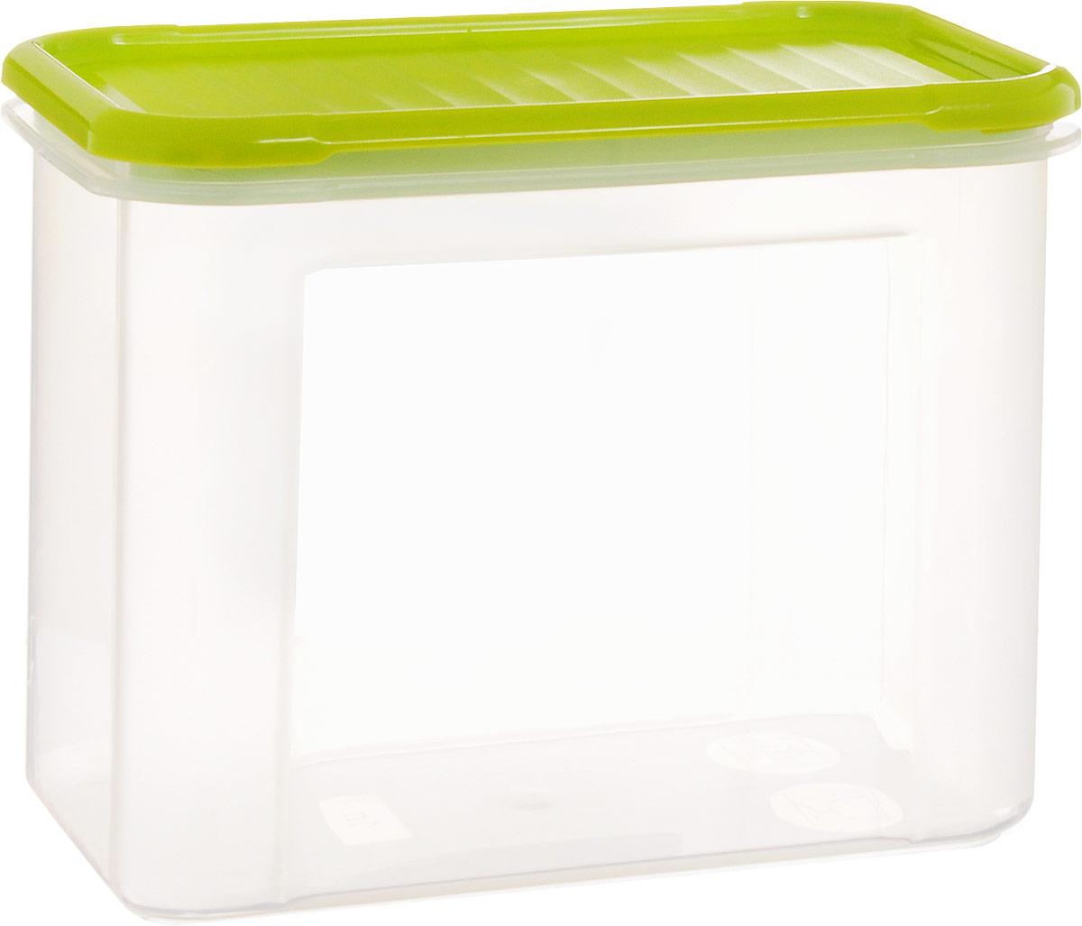 Банка для сыпучих продуктов Giaretti Krupa, цвет: оливковый, прозрачный, 1 лGR2232ОЛБанка для сыпучих продуктов Giaretti Krupa предназначена для хранения круп, сахара, макаронных изделий, сладостей и тому подобного, в том числе для продуктов с ярким ароматом (специи и прочего). Строгая прямоугольная форма банки поможет вам организовать пространство максимально комфортно, не теряя полезную площадь. При этом банка устанавливаются одна на другую, что способствует экономии пространства в вашем шкафу. Плотная крышка не пропускает запахи, и они не смешиваются в вашем шкафу.Размеры контейнера (с учетом крышки): 16 х 8,5 х 12,5 см.