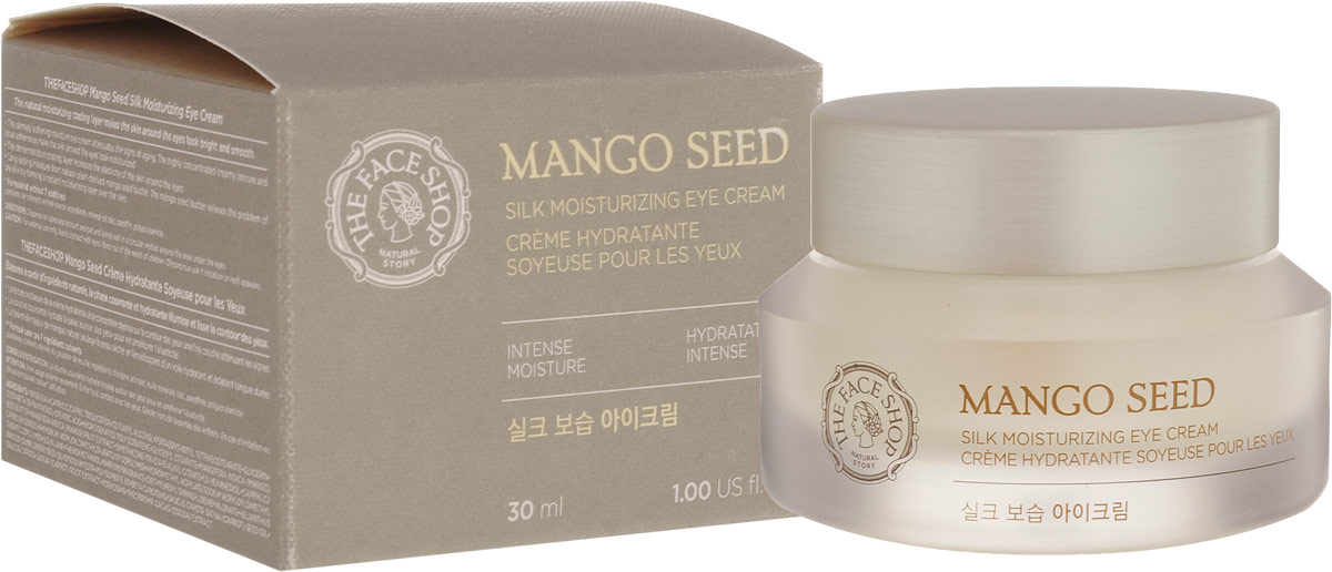 The Face Shop крем для глаз Mango Seed Silk Moisturizing, 30 мл крем для рук lm mini pet hand cream 04 fruity floral 30 мл the face shop