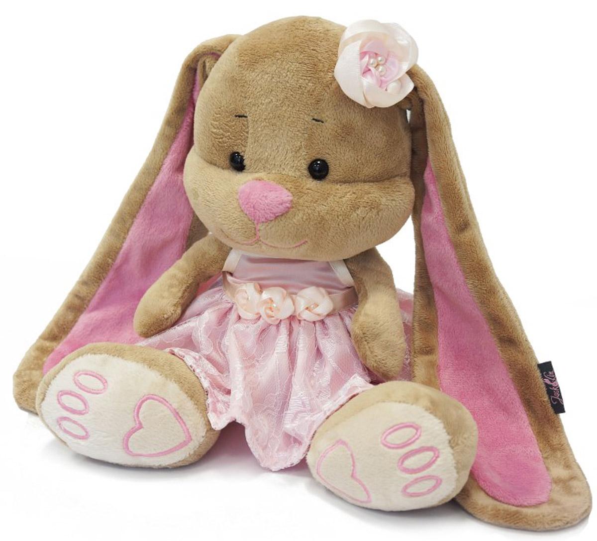 Maxi Toys Мягкая игрушка Зайка Лин в розовом платье 25 см игрушка jack and lin зайка лин черничный пуддинг jl 021 25