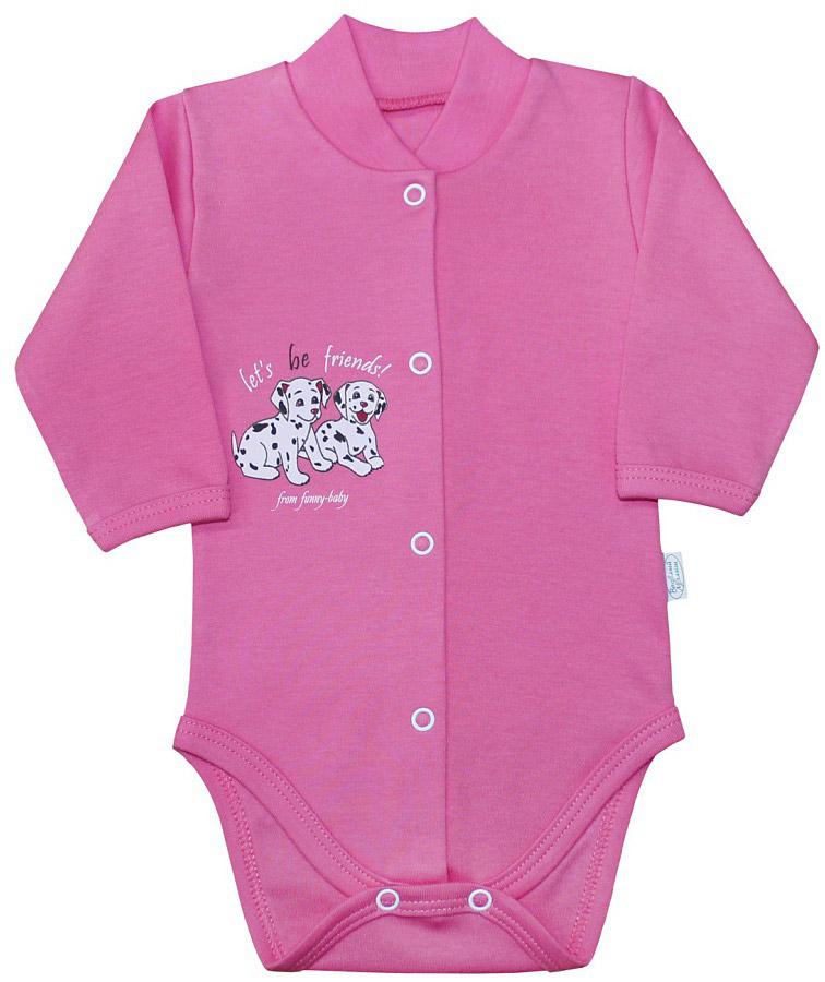 Боди для девочки Веселый малыш Далматинцы, цвет: розовый. 141/322/да-E (1). Размер 80 пижама для девочки веселый малыш цвет розовый 9215 m 1 размер 128
