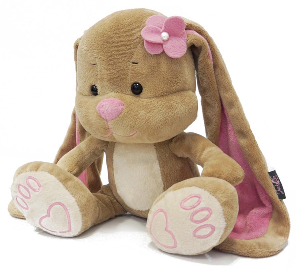 Maxi Toys Мягкая игрушка Зайка Лин с цветочком на голове 25 см maxi toys мягкая игрушка антистресс