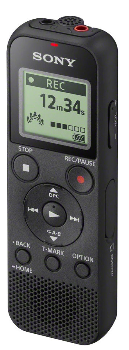 Sony ICD-PX370, Black диктофон sony nwz e583 4gb black mp3 плеер