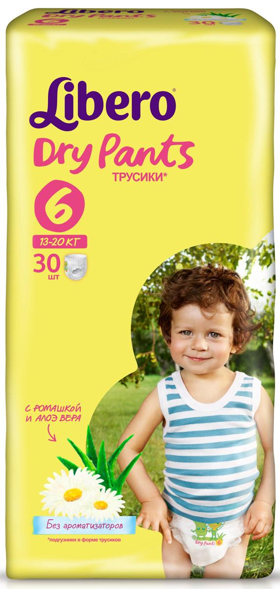 Libero Dry Pants Подгузники-трусики 6, 13-20 кг, 30 шт libero подгузники трусики dry pants extra large 13 20 кг 46 шт