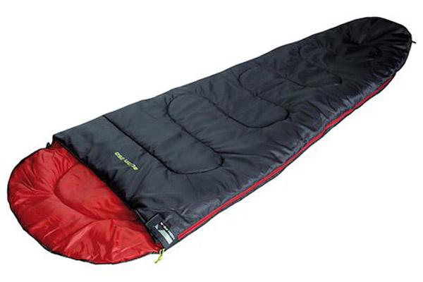 Спальный мешок High Peak Action 250, цвет: антрацит, красный, правосторонняя молния спальник woodland pilot 250