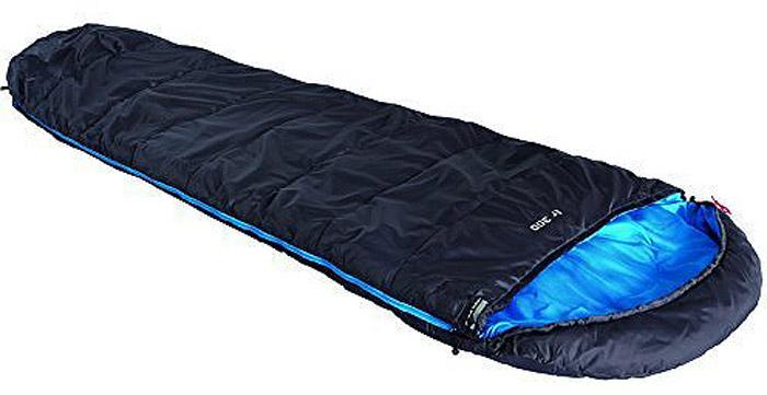 Спальный мешок High Peak TR 300, цвет: антрацит, синий, правосторонняя молния