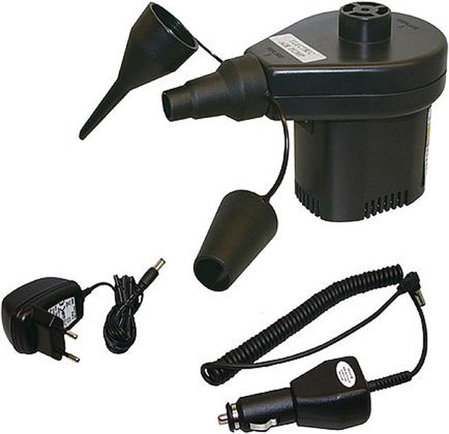 Насос для надувных кроватей High Peak Akku Elektropumpe, цвет: черный, 12В/220В49718Универсальный насос High Peak Akku Elektropumpe применяется для накачивания надувных кроватей. Может как надувать, так и сдувать кровать. Насос работает от прикуривателя в машине или от розетки в 220 вольт. В комплект входят три адаптера на разные диаметры клапанов.