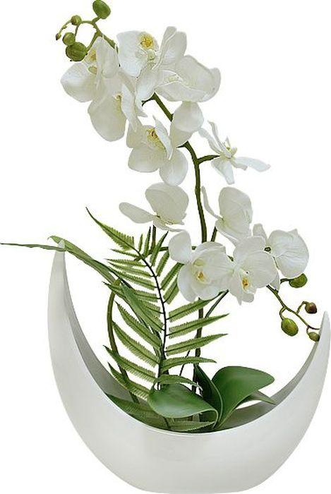 Цветы декоративные Dream Garden Орхидея белая, в вазеDG-JA6041Композиции из искусственных цветов Dream Garden, выполненные извысококачественных материалов, долговечны и не требуют ежедневного ухода.Искусственные цветы максимально приближены к натуральным, не пахнут, чтоисключает все аллергические реакции.