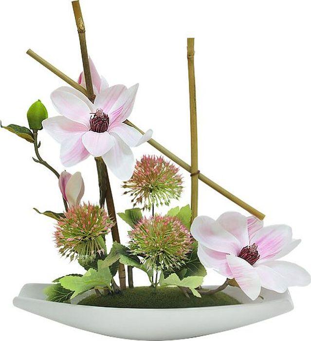 Композиции из искусственных цветов растений в оригинальных вазах и вазонах из керамики, стекла, металла - для декоративного оформления интерьеров квартир, домов, офисов, ресторанов, кафе, банкетных залов, номеров и холлов отелей, салонов красоты, фитнес-клубов…. Композиции не уступают красоте живых цветов, подчеркивают индивидуальность и создают цветочное настроение! Композиции из искусственных цветов долговечны, не требуют ежедневного ухода, выполнены из натуральных шелка и текстиля, прошедших специальную обработку высококачественными современными материалами. Искусственные цветы максимально приближены к натуральным, не пахнут, что исключает все аллергические реакции.