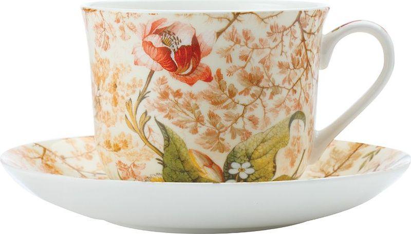 """Чайная пара Maxwell & Williams """"Консерватория"""" состоит из чашки и блюдца.  Оригинальный дизайн, несомненно, придется вам по вкусу.Чайная пара  Maxwell & Williams """"Консерватория"""" украсит ваш кухонный стол, а также станет  замечательным подарком к любому празднику."""