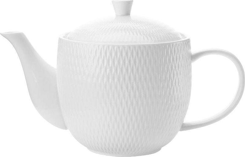 Чайник заварочный Maxwell & Williams Даймонд, 0,8 лMW688-DV0064Заварочный чайник Maxwell & Williams Даймонд выполнен из высококачественного фарфора и покрыт сверкающей глазурью. Изделие оснащено крышкой. Заварочный чайник придется по вкусу и ценителям классики, и тем, кто предпочитает утонченность и изысканность.