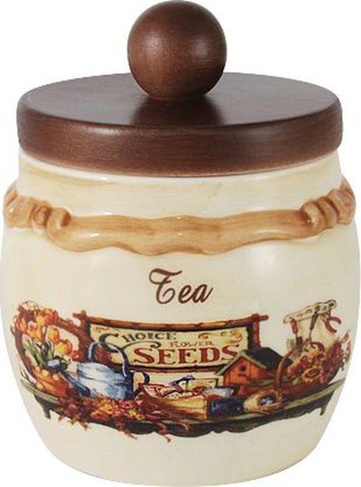 Банка для сыпучих продуктов LCS Садовые цветы. Чай, 0,5 лLCS010/PLT-SE-ALБанка для сыпучих продуктов LCS изготовлена из высококачественной керамики. Внешние стенки изделия оформлены красочным изображением и рельефом. Банка оснащена деревянной крышкой с вставкой, позволяющей крышке плотнее закрываться и дольше сохранять продукты свежими. Такая банка прекрасно подойдет для хранения сахара и других сыпучих продуктов. Банка LCS станет достойным дополнением к вашим кухонным принадлежностям. Мыть теплой водой с применением жидких моющих средств.