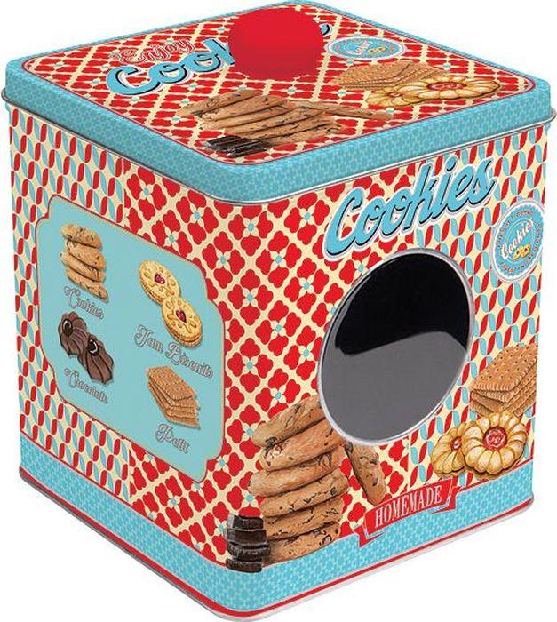 Банка для печенья Easy Life Сладости, 13 х 13 х 14,5 смEL-R0092/ENCOБанка для сладостей Easy Life, изготовленная из металла, станет вашим незаменимым помощником на кухне. Благодаря ее универсальности, в ней можно хранить самые разнообразные вещи: от предметов домашнего обихода до пищевых продуктов. Емкость плотно закрывается крышкой, которая защищает от попадания внутрь влаги и пыли. Сбоку имеется дополнительное окошко. Итальянская компания Easy Life (Nuova R2S) - является лидером производства кухонной посуды и аксессуаров для дома в Италии. Центральный офис компании находится в Италии, производство расположено в Италии и Китае. Концепция выпускаемой продукции заключается в создании единой дизайнерской линии предметов сервировки стола, оформления интерьера кухни или столовой комнаты. Вся продукция производится из современных и экологически чистых материалов. Продукция компании Easy Life отличается современным дизайном, и легкостью в эксплуатации. Компания работает в тесном сотрудничестве с лучшими итальянскими художниками и дизайнерами. Важным преимуществом этой фабрики, является оригинальная подарочная упаковка. Продукция компании Easy Life (Nuova R2S) не только современный подарок и украшение для вашего дома, но и всегда неисчерпаемое количество идей на вашей кухне.