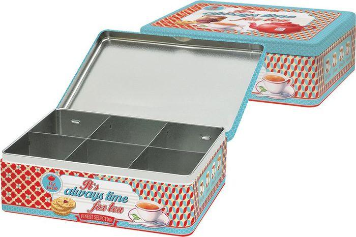 """Коробка для чайных пакетиков Easy Life """"Время чая"""", 20,5 х 16 х 7 см"""