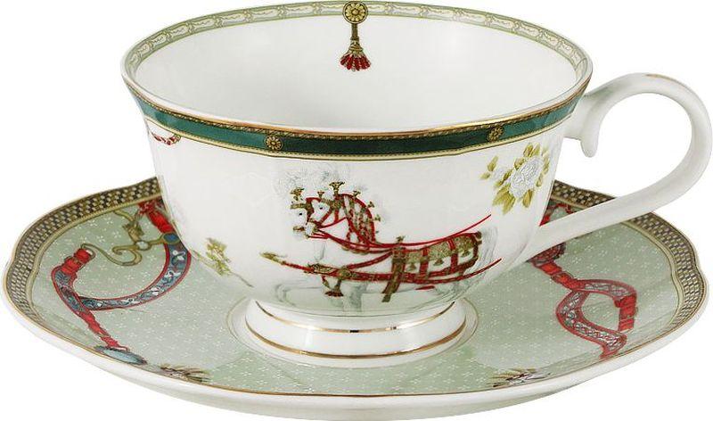 Чайная пара Anna Lafarg Emily Эдинбург тарелка anna lafarg йорк 21см десертная фарфор