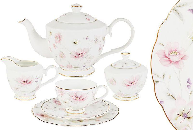 Сервиз чайный Anna Lafarg Emily Розовый танец, 21 предмет anna lafarg emily набор чашек сан марино 6шт