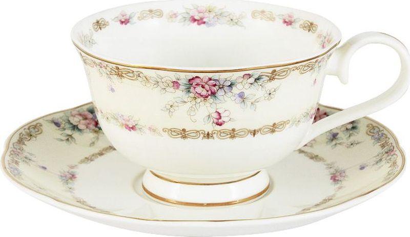 Чайная пара Anna Lafarg Emily Сан Марино, 2 предмета чайная пара фарфор вербилок капля полдня 2 предмета 1259593