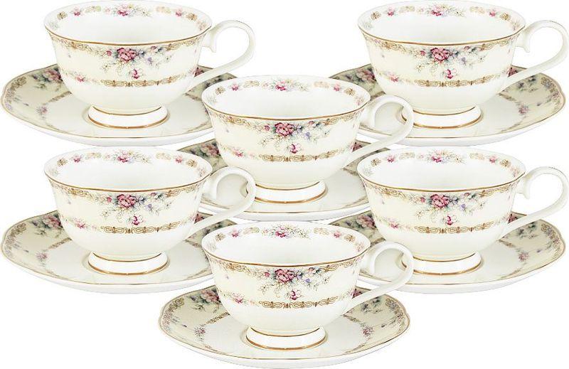 Сервиз чайный Anna Lafarg Emily Сан Марино, 12 предметовAL-M1744/12-E9Столовая посуда торговой марки Anna Lafarg произведена из высококачественного костяного фарфора. Тончайший костяной фарфор, высокоекачество нанесения декора, элегантность форм, уникальный дизайн - все это является отличительной чертой бренда.Изящный дизайн и красочность оформления изделий придутся по вкусу и ценителям классики, и тем, кто предпочитает утонченность иизысканность в дизайне. Все изделия изготавливаются на современном оборудовании по новейшим технологиям и проходят строгий контроль качества. Чашки объемом 200 мл.