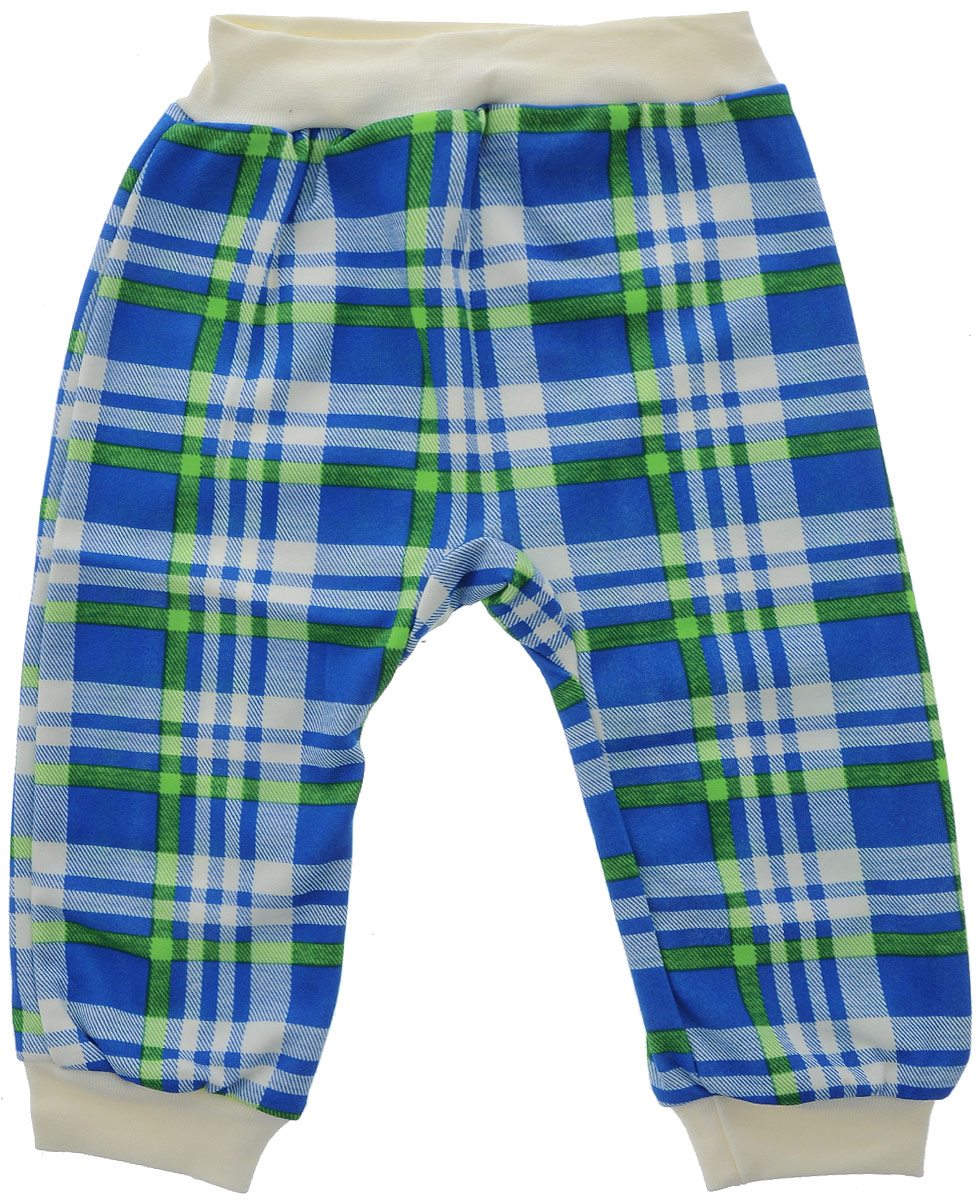 Фото Ползунки для мальчика КотМарКот, цвет: синий, зеленый, белый. 5816. Размер 80